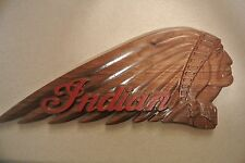 Indian Motorcycle Walnut Wood Sign Plaque American Made / Home Made