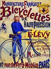 Bicyclettes de Haute Bicycle Paris France French Advertisement Art Poster Print