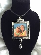 Sexy Victorian Double-sided Silver Photo Pendant Locket & Necklace FREE SHIPPING
