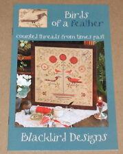 """Blackbird Designs """"Birds of a Feather"""" Cross Stitch Sampler Pattern"""