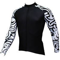 Vintage Men's Cycling Jersey Tops Long Sleeve Mountain Bike Bicycle Jacket S-5XL
