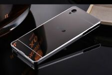 NEW Luxury Mirror Back Cover+Metal Aluminum Frame Case For Sony Xperia Phone LG