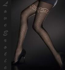 Stunning Black Rose Polka Dot 120 Stocking Pantyhose UK Stock Free Fast Delivery