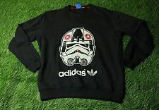 RARE ADIDAS ORIGINAL STAR WARS AT-AT PILOT MENS BLACK SWEATER SWATSHIRT SIZE XL