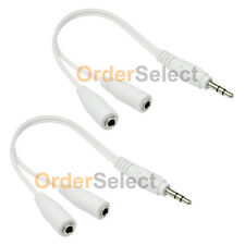 2 Dual 3.5mm Earbud Earphone Headphone Splitter for Tablet Android Phone MP3 MP4
