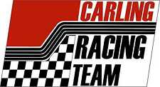 Vintage race decals carling racing graphique piste voiture nostalgique stickers
