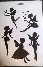 A4 Wall Stencil Reusable Template Butterfly Flower Fairies Fairy Home Decor Mask