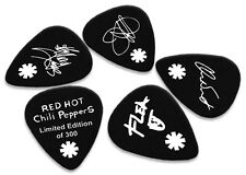 Red Hot Chili Peppers 5 X Double Sided Guitar Picks Ltd 300 (White on Black)