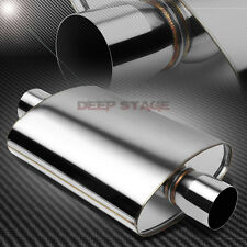 "3"" CENTER INLET/OUTLET STAINLESS STEEL OVAL CHAMBER RACING HIGH-FLOW MUFFLER"