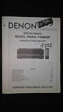 Denon pma-1080r service manual original repair book stereo amp amplifier
