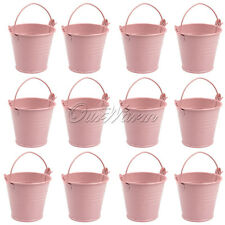 12 Small Pink Buckets Favors Candy Box Wedding Party Baby Shower Gifts Souvenirs