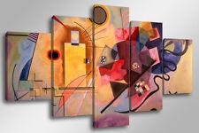 Quadro Moderno 5 pz. KANDINSKY - YELLOW RED BLUE cm 150x90 arredamento arte