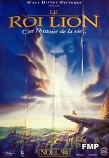 THE LION KING - DISNEY - ORIGINAL ADVANCE FRENCH MOVIE POSTER