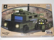 Best-Lock Building Blocks - Green Army HUMVEE, Toy Model Kit, Crafts, Military
