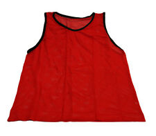 BRAND NEW RED SCRIMMAGE VEST (YOUTH) SOCCER PINNIE TEAM JERSEY MESH BIB PRACTICE