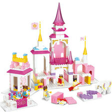 New Lot Building Block Prince Queen Princess Castle Dream of Pink Girl Toy B0251