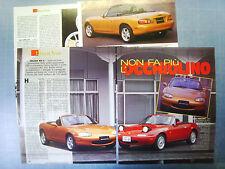 AUTO998-RITAGLIO/CLIPPING/NEWS-1998-MAZDA MX-5 - 4 fogli
