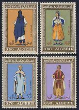 "ALGERIE N°557/560**  Costumes algériens, 1972 Algeria ""traditional"" costumes MNH"