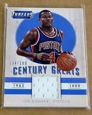 JOE DUMARS 2014-15 PANINI THREADS CENTURY GREATS GAME WORN JERSEY#/199