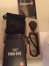 Official Quiksilver Apple iPhone 4 4s Fish eye 180 Lens Hard Case Lanyard pack