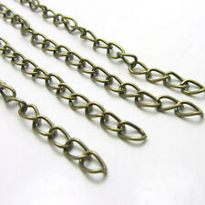 New 50pcs Bronze Color  Extended Extension Jewelry Chains/Tail Extender 6-7cm