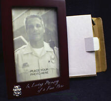 Police Officer Memorial Wood Picture Photo Frame Hero policeman  Loving Memory