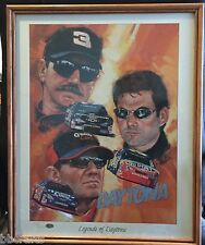 Framed ROBERT TANENBAUM LEGENDS OF DAYTONA Lithograph & Magazine w/COA 133/2001
