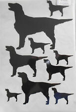 Flat coated retriever vinyl stickers, decals, for car, window