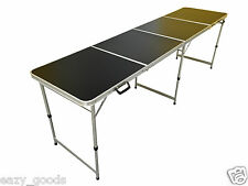 8 pi pied pliable aluminium noir 4 section table restauration camping marché
