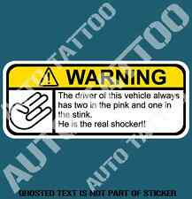 REAL SHOCKER WARNING DECAL STICKER HUMOUR HOT JDM DRIFT NOVELTY DECAL STICKERS