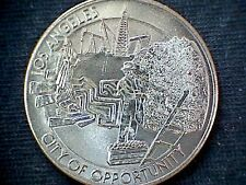 1981 LOS ANGELES CA COIN TOKEN MEDAL $1 DOLLAR CITY OPPORTUNITY END OF RAINBOW