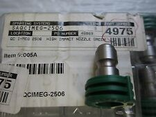 Spray Systems Company QC I-MEG 2506 High Impact Nozzle Green 25 deg Stock #4975