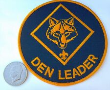 """Giant Cub Scout Den Leader - Jacket Patch or Training Display 6"""" Round"""