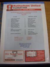 22/03/2005 Rotherham United riserve V Sheffield United riserve [nessun prezzo] (si