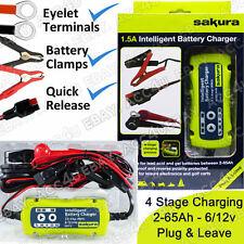 Sakura SS5313 6v 12v 1.5A Nuevo Plug & dejar Coche Cargador Inteligente De Batería inteligente