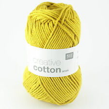 Rico Creative Cotton Aran - 100% Cotton Knitting & Crochet Yarn - Mustard 70