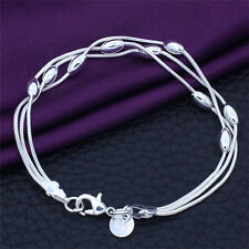 1Pc Fashion Lady Cute Tassel Silver Plated Charm Beads Chain Bracelet Bangle