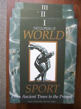 ENCYCLOPEDIA OF WORLD SPORT - 3 VOLUME SET - FANTASTIC REFERENCE - MINT/SEALED