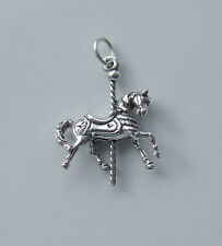 CAROUSEL HORSE 3D CHARMS CHARM 925 STERLING SILVER