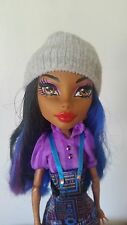 Monster High Doll Beanie Knit Hat Cap GRAY Hand Made Fashion Fits Bratz Barbie