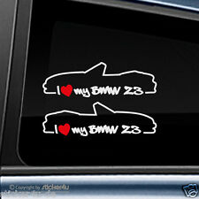 (735) 2x Fun Sticker Aufkleber  / i Love my BMW Z3 Roadster Stickerbomb M3