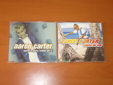 AARON CARTER 2 x CD SINGLES BULK LOT - AARON'S PARTY (COME GET IT), CRUSH ON YOU