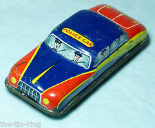 TIN PLATE TOY GLAM TOYS POLICE CAR 1950S/60S