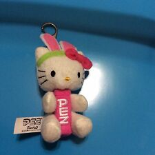 PEZ Candy Dispenser-Hello Kitty Plush- W/ Key Chain Bunny Ears