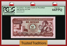 TT PK 128 1980 MOZAMBIQUE 1000 METICAIS PCGS 66 PPQ GEM NEW POPULATION ONE