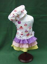 PARIS PASTRY CUPCAKE BAKING APRON CHEF HAT for American Girl DOLLS GRACE THOMAS