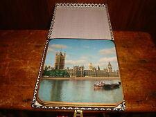 Vintage Win-El-Ware Coasters Placemats London Sights Set of 6 Original Ccase