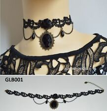 Gothic Lace Vintage Choker Victorian Burlesque Collar Retro Necklace UK Seller