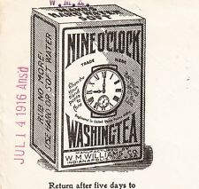 Nine O'Clock Washing Tea Rub No More Warren PA 1916 Flag Cover =