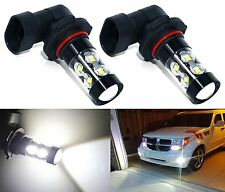 2x H10 9145 LED Fog Light 50W High Power CREE 6000K White Projector DRL Driving